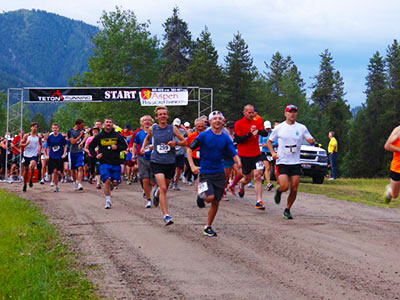 Starting Line of Star Valley Half Marathon